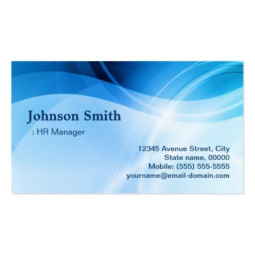 Directeur d'heure - créatif bleu moderne cartes de visite personnelles