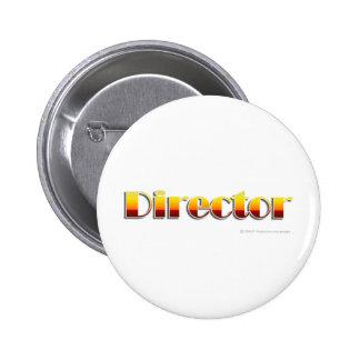 Directeur (texte seulement) macaron rond 5 cm