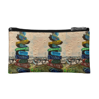 """""""Direction Marker on Kelley's Island"""" Cosmetic Bag"""