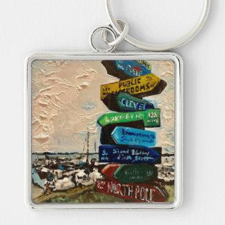"""Direction Marker on Kelley's Island"" Key Chain"