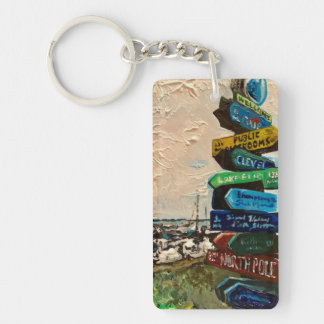 """""""Direction Marker on Kelley's Island"""" Key chains"""