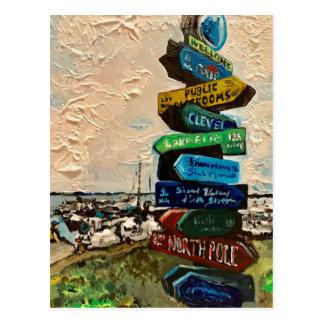 """Direction Marker on Kelley's Island"" Postcard"