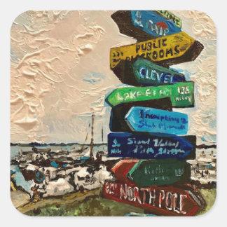 """""""Direction Marker on Kelley's Island"""" Sticker"""