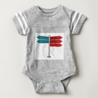 Direction signs baby bodysuit