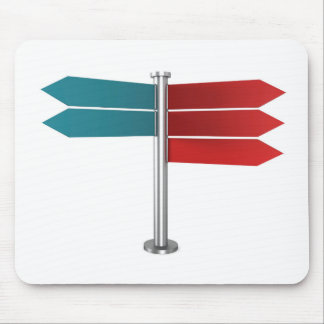 Direction signs mouse pad