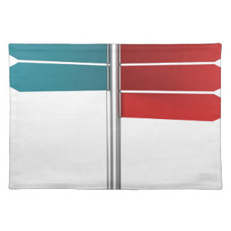 Direction signs placemat