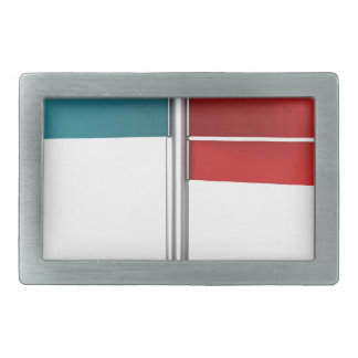 Direction signs rectangular belt buckle