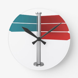 Direction signs round clock