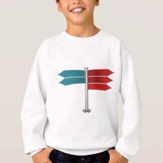 Direction signs sweatshirt