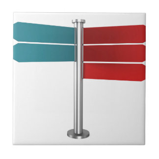 Direction signs tile