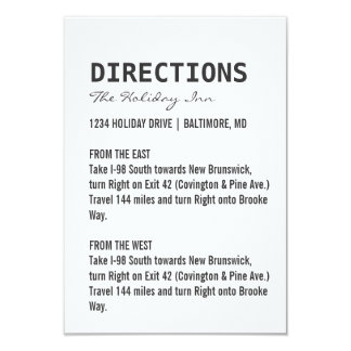 Directions Card | We