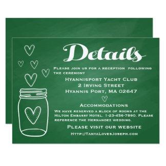 "Directions / Details Pink Bride & Groom Wedding 4.5"" X 6.25"" Invitation Card"