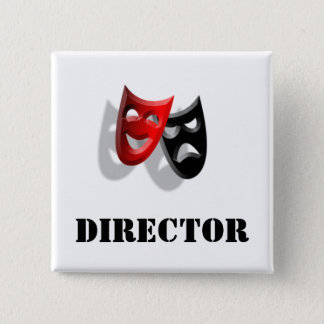 Director and Masks Badge 2 Inch Square Button