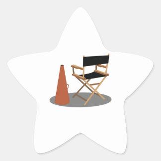 Director Chair Star Sticker