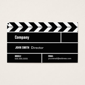 Director Clapperboard Film Movie Business Card