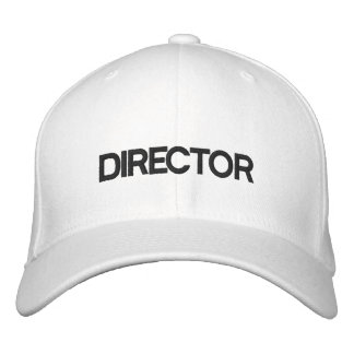 DIRECTOR EMBROIDERED BASEBALL CAPS