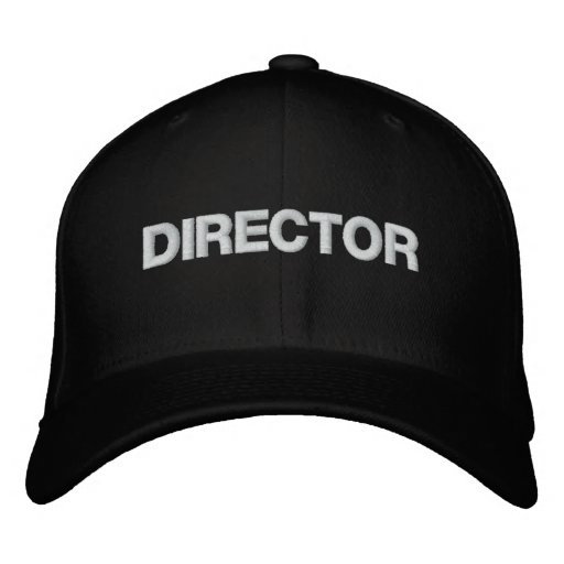 DIRECTOR EMBROIDERED BASEBALL CAP