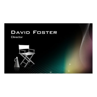 Director in film television theatrical production business card template