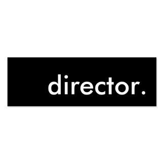 director. mini business card