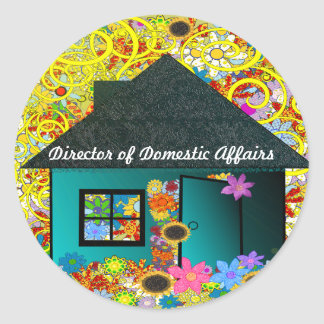 Director of Domestic Operations Classic Round Sticker