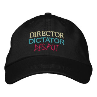 Director to Despot Embroidered Hat