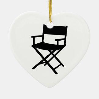 Director's chair ceramic ornament