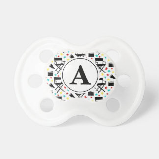 Director's Chair Movie Themed Monogram Pacifier