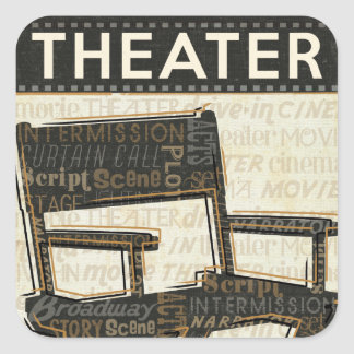 Director's Chair Square Sticker