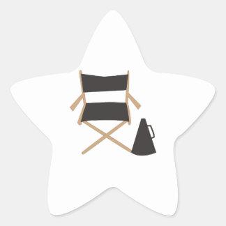 Directors Chair Star Sticker