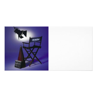 Director's Slate, Chair & Stage Light 2 Photo Greeting Card