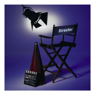Director's Slate, Chair & Stage Light 2 Poster