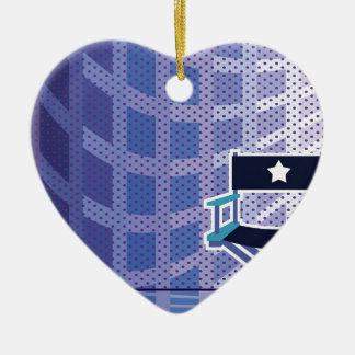 Director's / Star Chair vector Ceramic Heart Ornament
