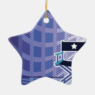Director's / Star Chair vector Ceramic Star Ornament