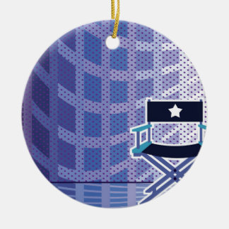 Director's / Star Chair vector Round Ceramic Ornament