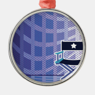 Director's / Star Chair vector Silver-Colored Round Ornament