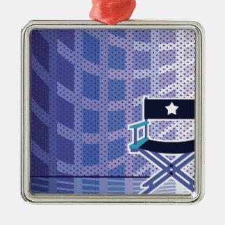 Director's / Star Chair vector Silver-Colored Square Ornament