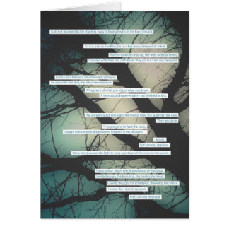 dirge without music sympathy card