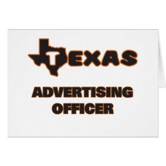 Dirigeant de la publicité du Texas Carte De Correspondance