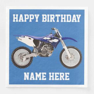 Dirt Bike Blue Birthday Sport Napkins Paper Napkins