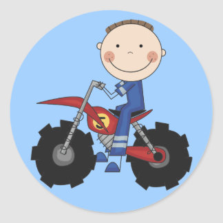 Dirt Bike - Boy Tshirts and Gifts Classic Round Sticker