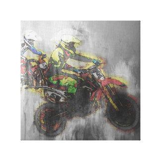 dirt bike canvas print