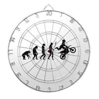 Dirt Bike Evolution Dartboard With Darts
