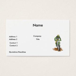 dirt bike extreme business card