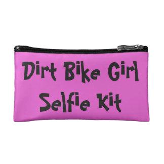 """Dirt Bike Girl """"Selfie Kit"""" Cosmetic Bag"""