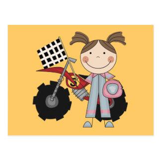 Dirt Bike - Girl T-shirts and Gifts Postcard
