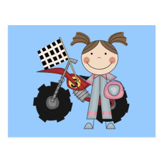 Dirt Bike - Girl T-shirts and Gifts Postcard