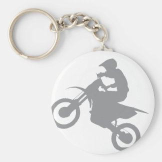 DIRT BIKE (grey) Basic Round Button Keychain