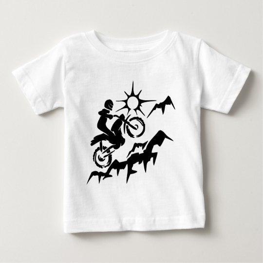 Dirt Bike Mountain Baby T-Shirt
