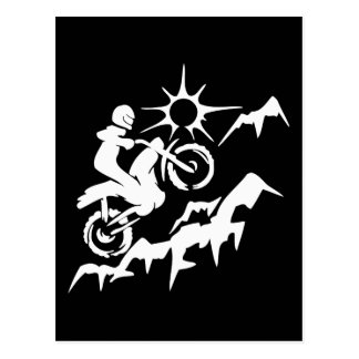 Dirt Bike Mountain Postcard