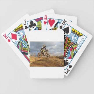 Dirt Bike Ride Bicycle Playing Cards